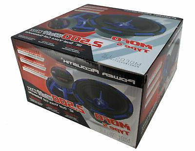 5000W Dual 4 Ohm Pro Car Bass