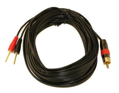 25ft 1 wire subwoofer 18awg 1 rca