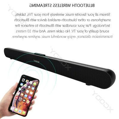 40W 3D TV Sound Bar System Wireless w/ Subwoofer