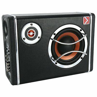 YaeCCC 6 Inch 400W Powered Under-Seat Car Subwoofer Amplifie