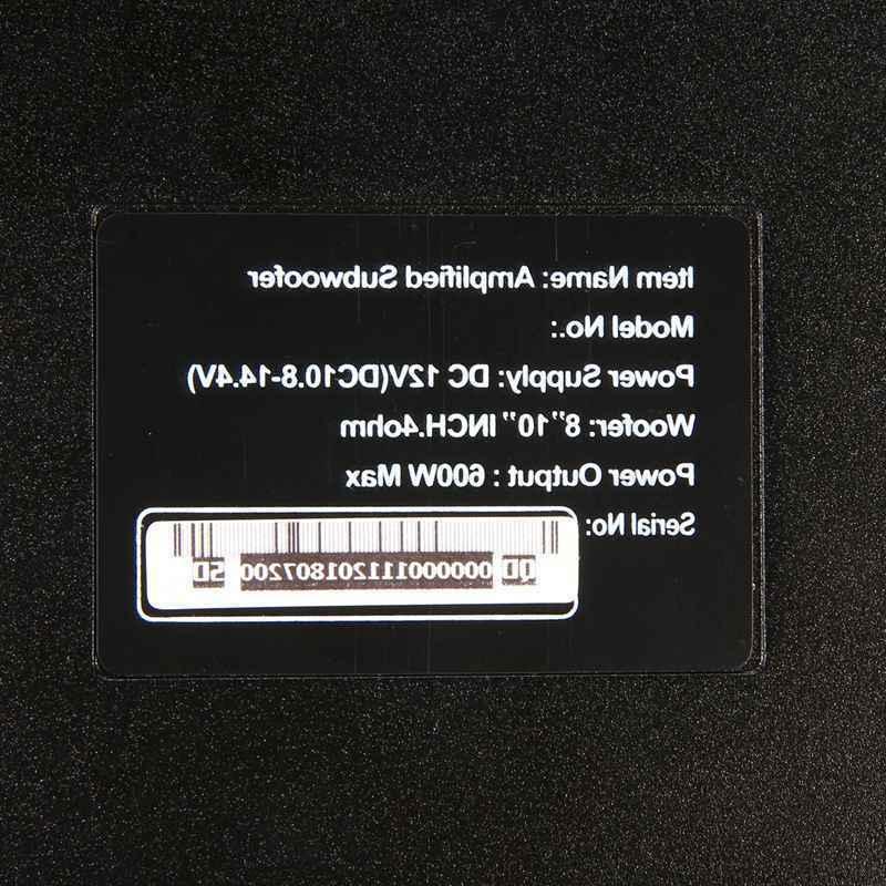 8'' Car Under-Seat Active Subwoofers Power Amplifier HiFi
