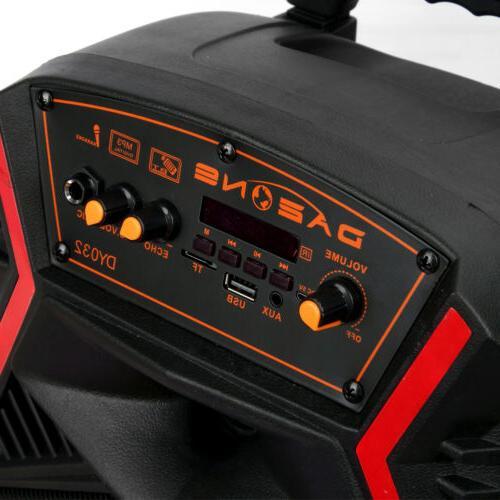"8"" Bluetooth Speaker Portable for Karaoke w/ Stereo"