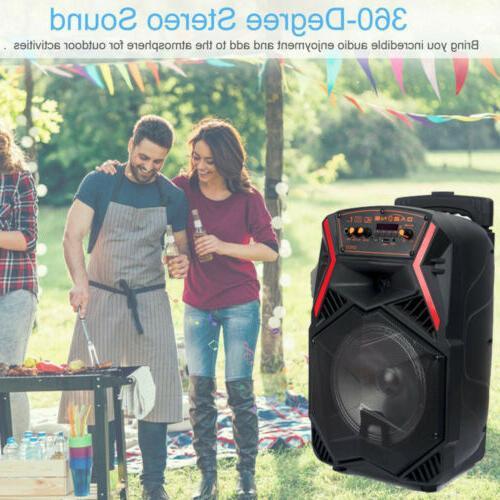 "8"" Party Subwoofer Speaker for Karaoke w/ DJ Stereo"