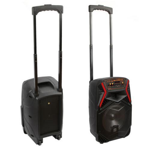 """8"""" Bluetooth Speaker Portable w/ LED Light Stereo"""