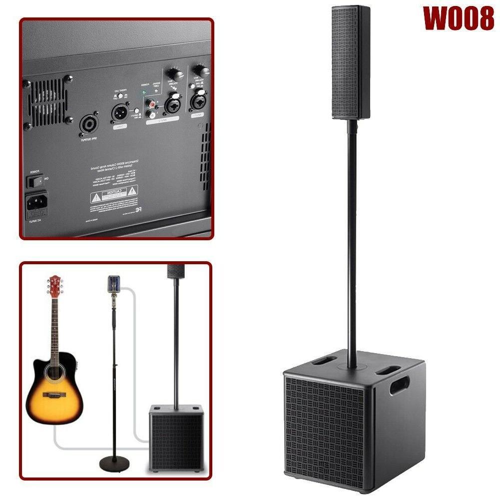 800w column array pa speaker sound system