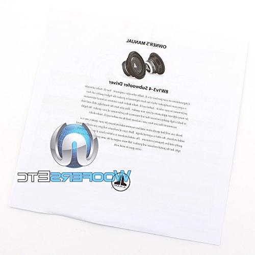 JL Audio 8W1v3-4 8-inch