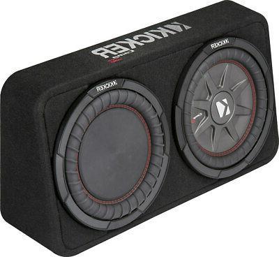 "Kicker - Comprt 10"" Dual-voice-coil 4-ohm Loaded Subwoofer E"