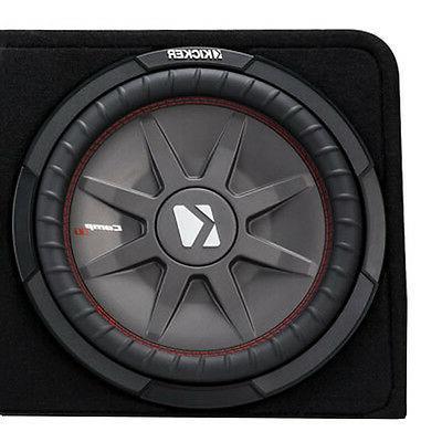 Kicker - Dual-voice-coil 2-ohm Enclosure - Black
