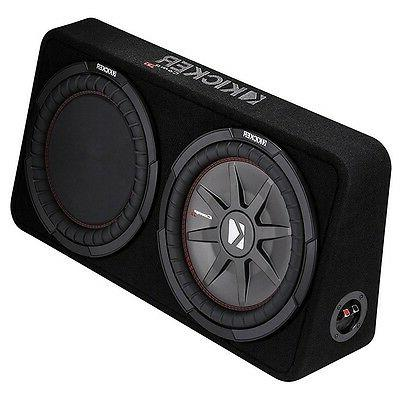"Kicker - Comprt 12"" Dual-voice-coil Loaded Enclosure Black"