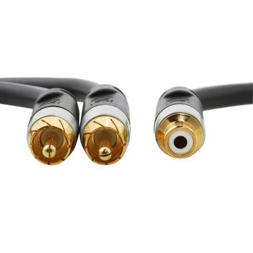 Mediabridge Series RCA Y-Adapter - 2-Male or Subwoofer