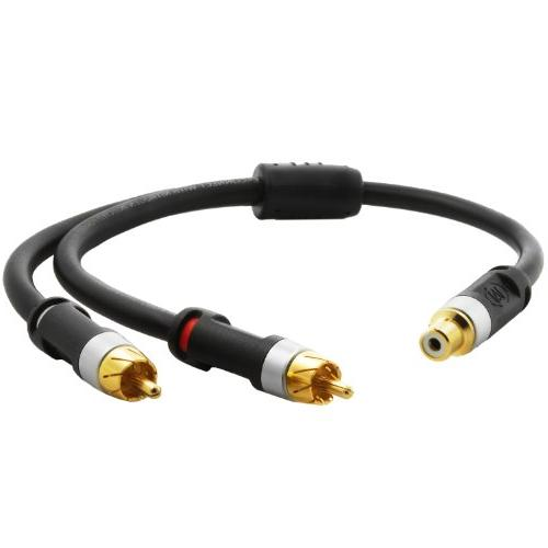 Mediabridge ULTRA Series RCA Y-Adapter 1-Female 2-Male for or Subwoofer -
