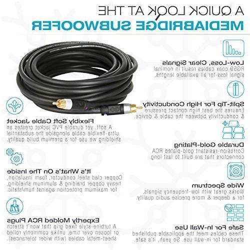 Mediabridge Series Cable - Dual Shield - Gold Plated Black -