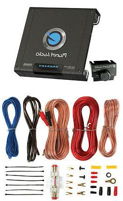 PLANET AUDIO AC1500.1M 1500W MONO Audio Amp AC15001M+8 Kit