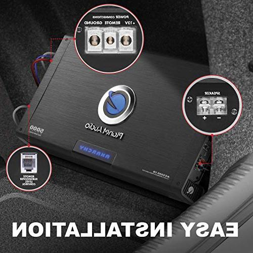 Planet Audio Car Amplifier – Watts Max Stable, D, MOSFET Power Supply, Subwoofer