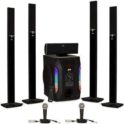 acoustic audio aat1003 tower 5 1 speaker