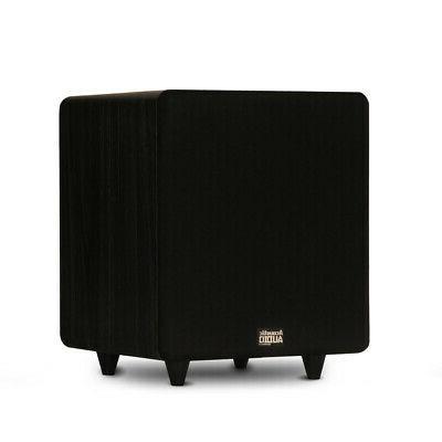 acoustic audio lfe subwoofer black