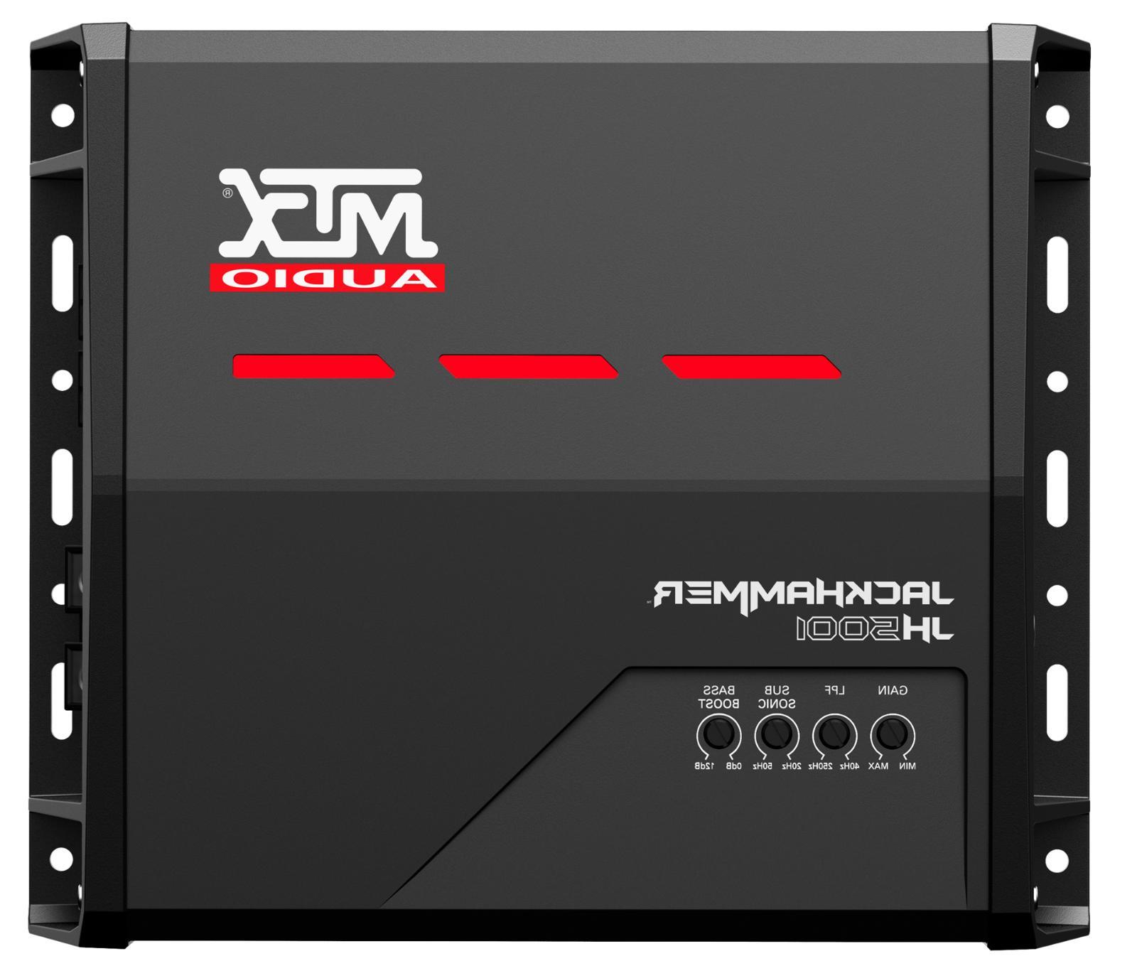 audio jh5001 jackhammer 1 channel subwoofer amplifier