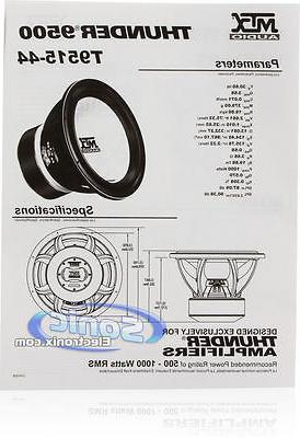 MTX 2000 inch Dual 4 Thunder Sub Subwoofer