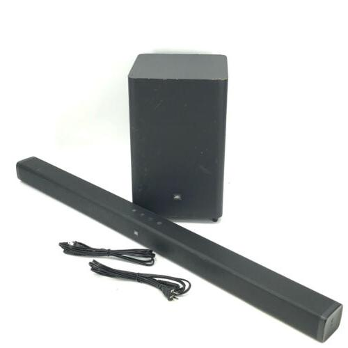 bar 2 1 soundbar and wireless subwoofer