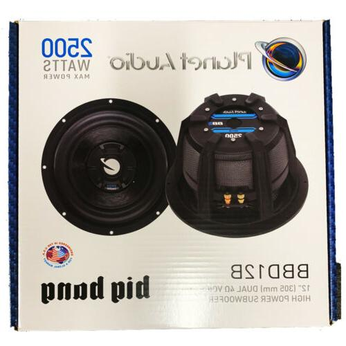 "Planet Audio BBD12B Watts 12"" Coil Subwoofer"