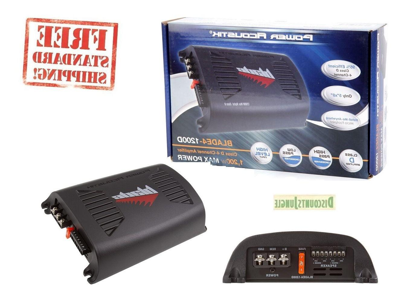 Power Acoustik BLADE4-1200D 1200 Watt 4-Channel Car