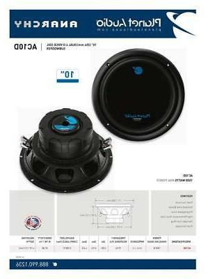 "10"" Audio 1500W Anarchy Series Dual Coil"