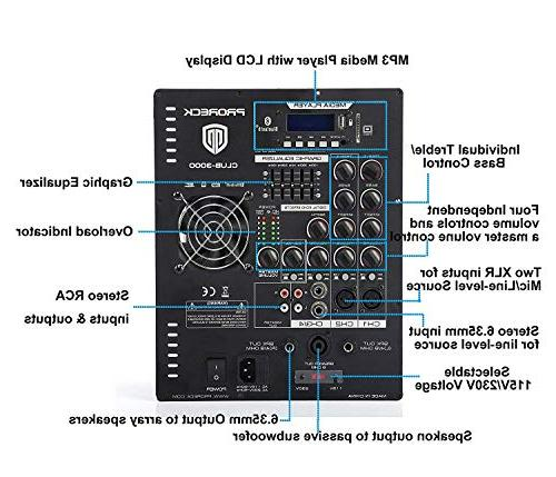 PRORECK Club 3000 with Bluetooth/USB/SD