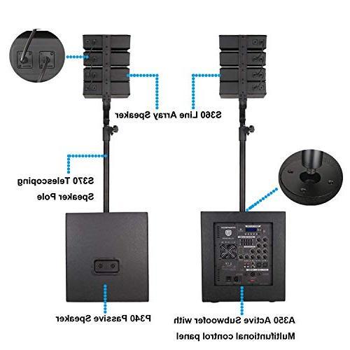 PRORECK Club 3000 Watt DJ/Powered Speaker System with