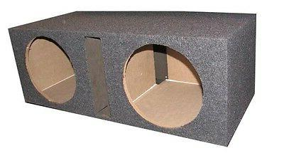 Q Power BASS12V Overboxed MDF Wood Carpeted Dual 12-Inch Ven