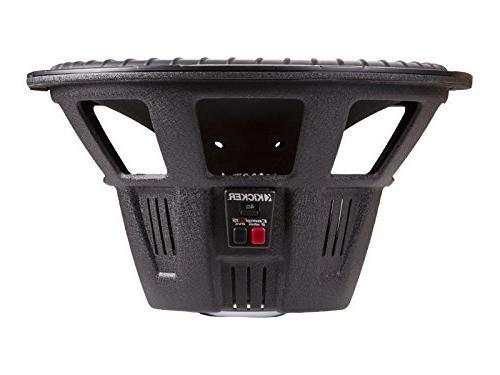 "Kicker CWR152 15"" 2-Ohm CompR Series Car Subwoofer"