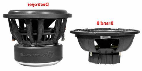 Rockville Destroyer Competition Car Audio Subwoofer w/USA