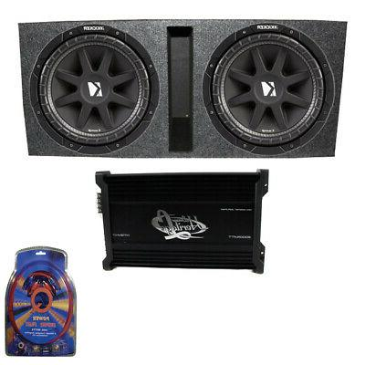 "Kicker 15"" 600W Dual Loaded Subwoofer Box w/ 2000W 4-Ch. Amp"