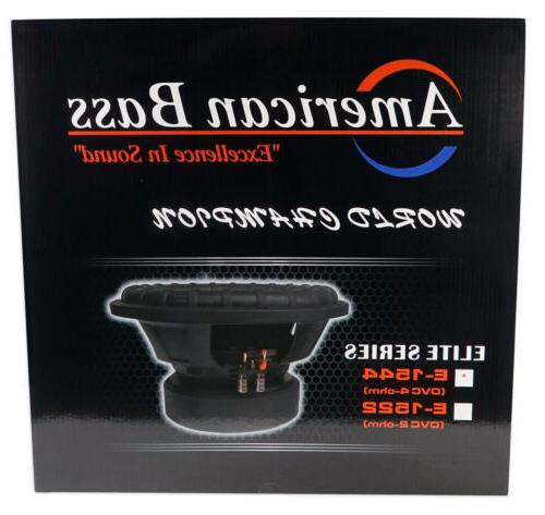 """American 2400w 15"""" Subwoofer 3"""" Coil/200Oz"""