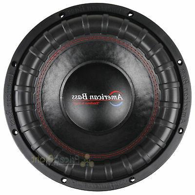 "American Bass Elite Series 1244 12"" Dual 4 Ohm RMS Power"
