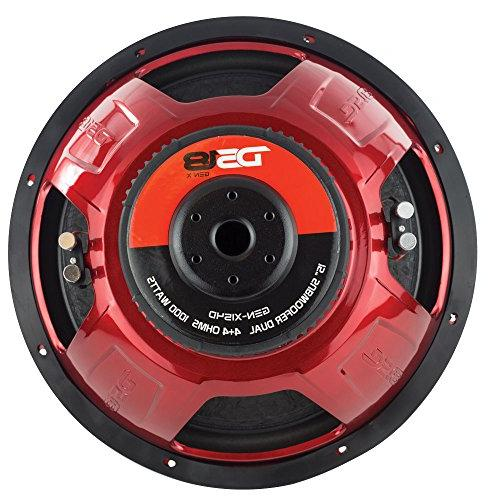 DS18 GEN-X154D Subwoofer Cone, Red Steel Basket, Dual Voice Ohm Power Foam Surround for Stereo System