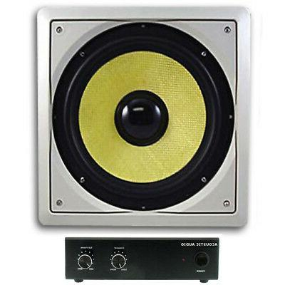 """Acoustic Audio HDS10 In-Wall/Ceiling 10"""" Home Theater Passiv"""