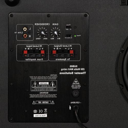 """Home 250 Watt Surround Sound 4.75""""Powered Subwoofer Black"""