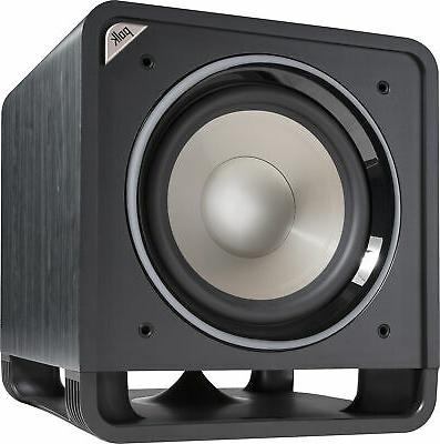 home theater subwoofer black walnut