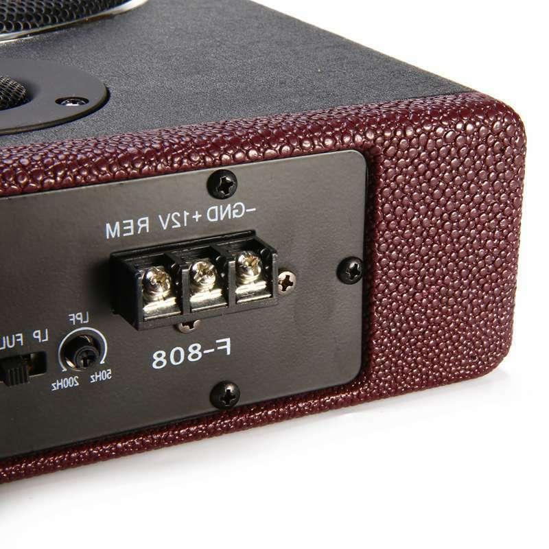 600W 8 inch Under-Seat Subwoofer Power Bass HiFi Slim Speaker