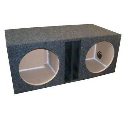 """12"""" inch DUAL SUBWOOFER BOX ENCLOSURE Ported Vented OBCON 1"""""""
