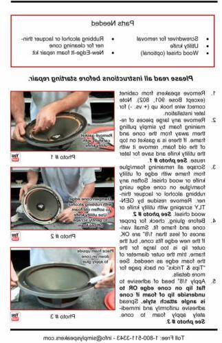 2005-2011 XLS Subwoofer JBL Foam Repair