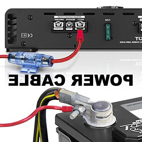 BOSS Audio 8 Gauge Amplifier Kit You Make Connections and Brings Power To Radio, and