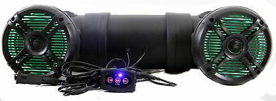 Q Power 500W Marine Bluetooth ATV Speaker System with LED Li