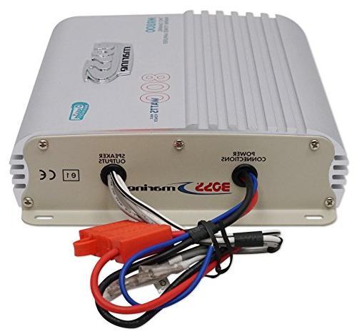 BOSS Audio MR800 Marine Grade 2 Channel, 2/4 Class A/B, Bridgeable, Amplifier Remote Control