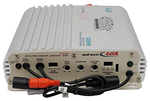 BOSS Audio MR800 Grade Channel, 2/4 Ohm Class A/B, Range, Bridgeable, Power Amplifier with Control