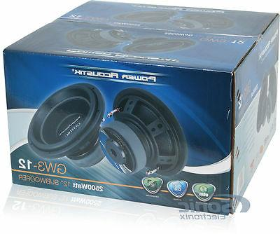 NEW Power Acoustik Gothic GW3-12 2 Ohm Audio
