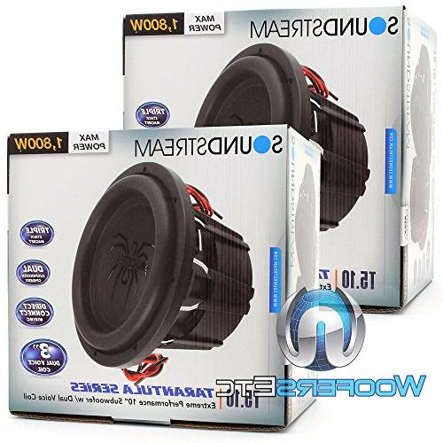 "Pair 10"" 1800W RMS 2-Ohm T5"