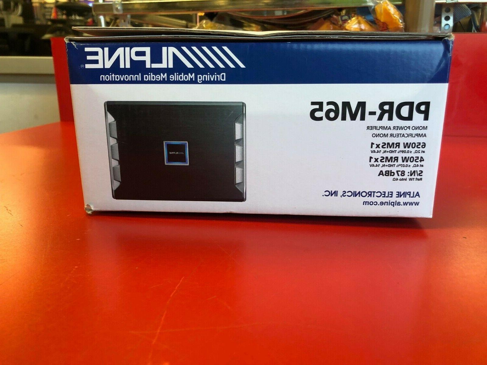 ALPINE MONOBLOCK 650W SUBWOOFER CLASS-D PDRM65 SUB NEW