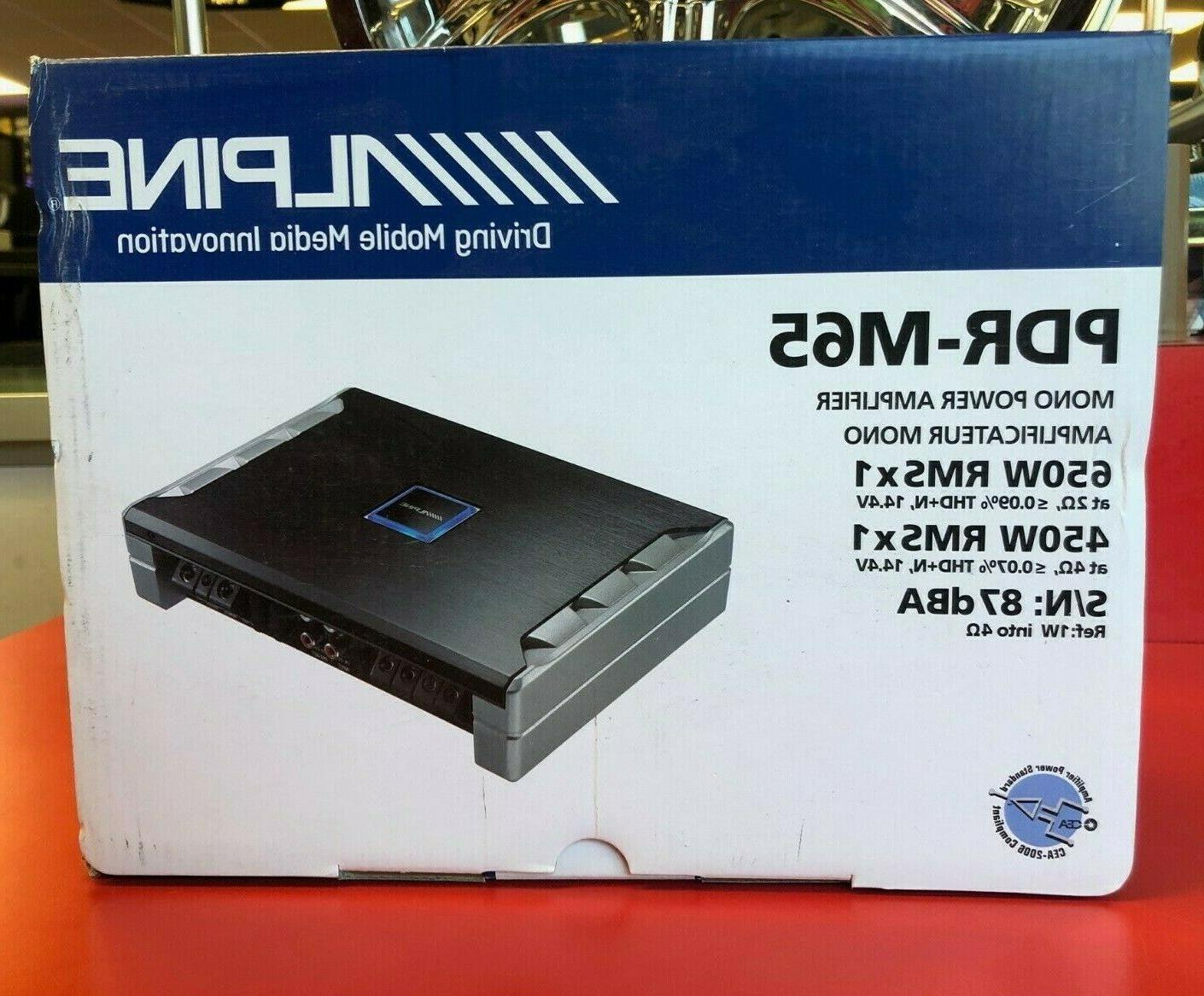 pdr m65 amp monoblock 650w max subwoofer