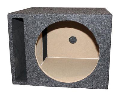 "QPower QSBASS12 Single 12"" Vented Slot Ported Subwoofer Sub"